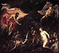 The Descent into Hell, 1568, tintoretto
