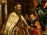 Doge Alvise I Mocenigo and Family Before the Madonna, c.1573, tintoretto