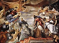 Doge Nicolò da Ponte Invoking the Protection of the Virgin, tintoretto