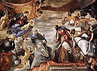 Doge Nicolò da Ponte invoking the protection of the Virgin, 1584, tintoretto