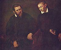 Double portrait of two men, tintoretto