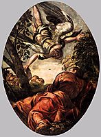 Elijah Fed by the Angel, 1578, tintoretto