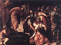 Esther before Ahasuerus, 1547-48, tintoretto