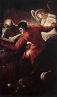 The Evangelists Luke and Matthew, 1557, tintoretto