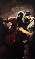 The evangelists Mark and John, 1557, tintoretto