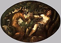 The Fall of Man, 1578, tintoretto