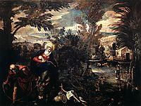 The Flight into Egypt, 1587, tintoretto
