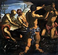 Forge of Vulcan, 1576-77, tintoretto