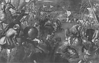 Francesco II Gonzaga against Charles VIII of France 1495 in fighting the battle of the Taro, 1580, tintoretto