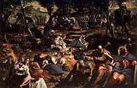 The Hebrews in the desert, 1593, tintoretto