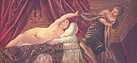 Joseph and Potiphar-s wife, c.1544, tintoretto