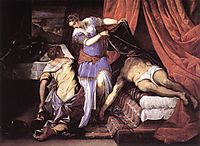 Judith and Holofernes, 1579, tintoretto