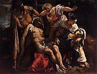 Lamentation over the Dead Christ, 1560, tintoretto