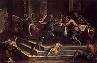 The Last Supper, 1579-81, tintoretto