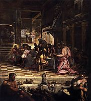 The Last Supper, 1581, tintoretto