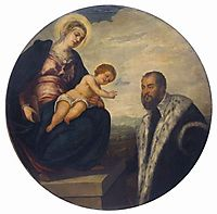 Madonna with Child and Donor Tintoretto, tintoretto