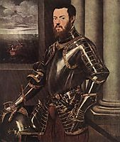 The man in armor, 1550, tintoretto