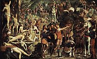 The Martyrdom of Ten Thousand (fragment), 1538, tintoretto