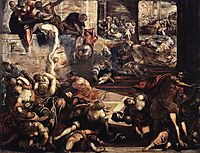 The Massacre of the Innocents, 1587, tintoretto