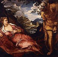 The meeting of Tamar and Judah, 1555-58, tintoretto