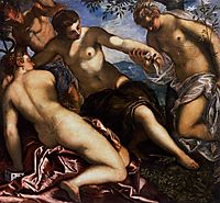 Mercury and the Graces, 1577, tintoretto