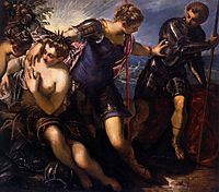 Minerva Sending Away Mars from Peace and Prosperity, 1577, tintoretto
