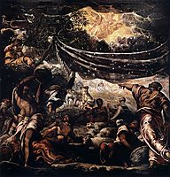 Miracle of the manna, c.1577, tintoretto