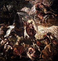 Moses Drawing Water from the Rock, 1577, tintoretto