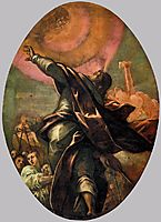 The Pillar of Fire, 1578, tintoretto