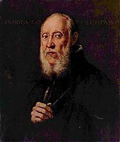 Portrait of the sculptor Jacopo Sansovino, 1570, tintoretto