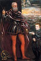 Portrait of Sebastiano Venier with a Page, c.1580, tintoretto