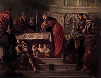 The Presentation of Jesus in the Temple, 1550-55, tintoretto