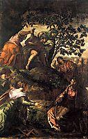 The Raising of Lazarus, 1581, tintoretto