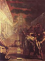 Recovery of the corpse of St. Mark, 1566, tintoretto