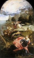 St George and the Dragon, 1555-58, tintoretto
