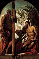 St Jerome and St Andrew, c.1552, tintoretto