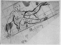 Study for the Allegory of Fortune, 1564, tintoretto