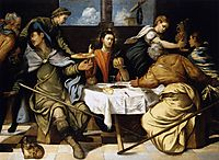 The Supper at Emmaus, 1543, tintoretto