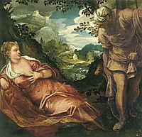 Tamar and Judah, 1559, tintoretto