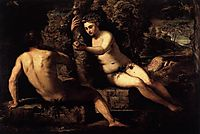 The Temptation of Adam, 1551-52, tintoretto
