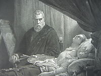 Tintoretto at the deathbed of his daughter, tintoretto