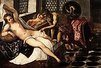 Venus and Mars surprised by Vulcan, 1551, tintoretto