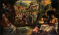 The Worship of the Golden Calf, c.1560, tintoretto