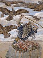 Abraham Guarding His Sacrifice , tissot