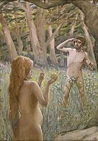 Adam Is Tempted by Eve, tissot