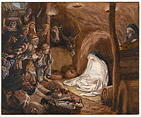 The Adoration of the Shepherds, illustration for -The Life of Christ-, c.1894, tissot