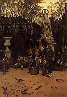 Beating the Retreat in the Tuileries Gardens, 1867, tissot