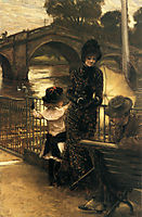 By the Thames at Richmond, 1878-1879, tissot