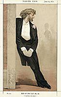 Caricature of Frederic Leighton, 1872, tissot
