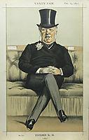 Caricature of Henry William Eaton M.P., 1871, tissot